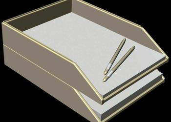 Office Letter Tray 3d Model