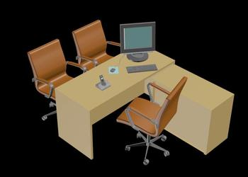 Office Cabin Furniture 3d