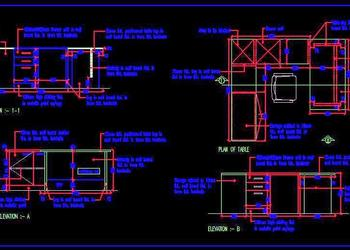Office Executive Desk Free DWG Drawing Download