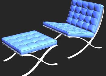 Ottoman Chair 3d design