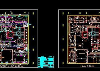 Single Floor Office Layout, HVAC and Electrical