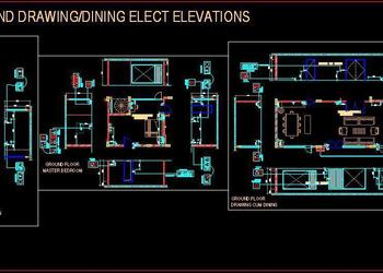 Residential Electrical Design with Wall Elevations