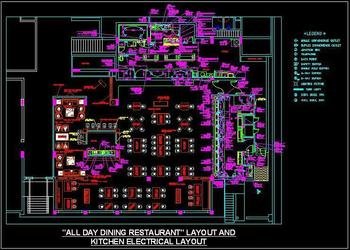 Electrical Layout Of Restaurant Kitchen