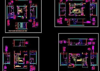 Electrical layout of  4 different Bedroom