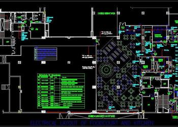 Electrical Design of Cafeteria Commercial Kitchen