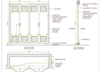Electrical Distribution Board Cabinet Detail