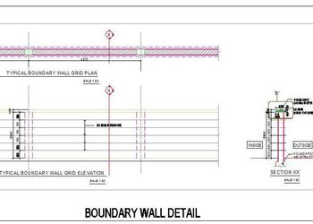 Ordinary Boundary Wall Design