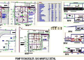 Boiler, Pump Room Working Drawing