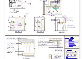 Cash-Billing Counter Design DWG Drawing File