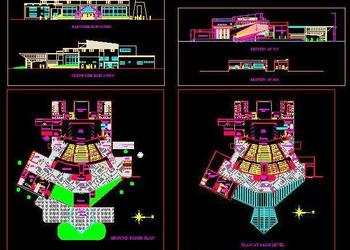 Auditorium Design CAD Dwg Download