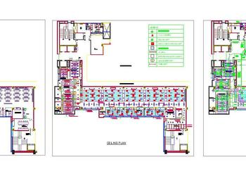 Office Interior Furniture, Ceiling and HVAC Layout