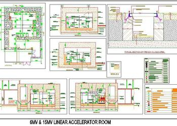 Hospital Linac Room Design (Linear Accelerator Room)