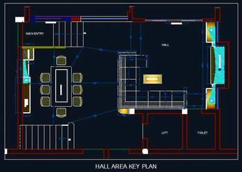 Living Room Hall Layout Plan