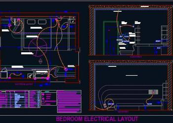 Electrical Design of Bedroom