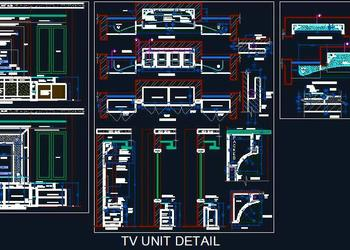 Contemporary Design TV Unit