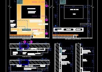 Modern TV Unit Design - Autocad DWG | Plan n Design