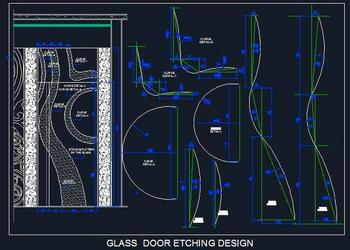Glass Etched Door Design