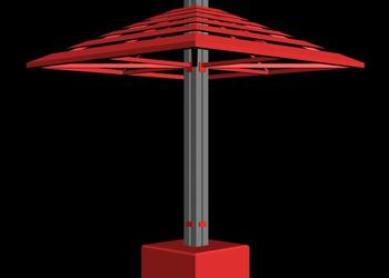 Umbrella Style Gazebo Pavilion 3d view