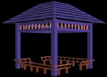 Stainless Steel Gazebo Design 3d view