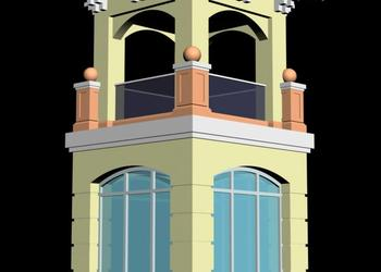 Minaret Design 3d view