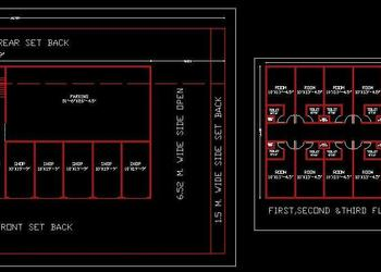Commercial Complex cum Guest House Layout Plan