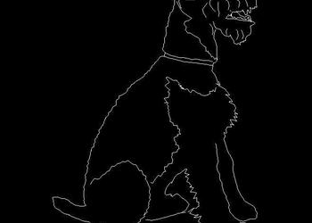 Sitting Dog Autocad Block