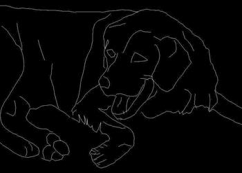Barking Dog Autocad Block