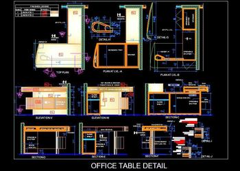Executive Office Desk Detail Design
