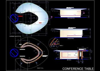Asymmetrical Conference Table Design Detail