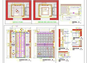 Hotel Lift Elevator Interior Design DWG Detail