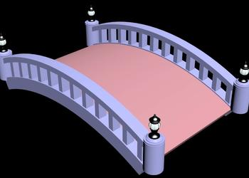 Arch  Design Garden Bridge 3d view