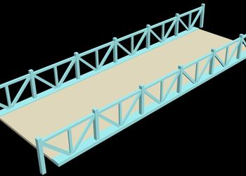 River Platform Bridge 3d view