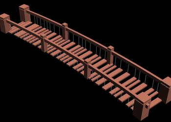 Suspension Bridge 3d view