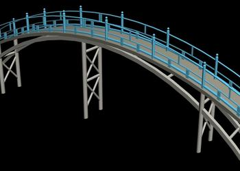 R.C.C. Bridge Design 3d view