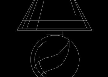 Table Lamp Autocad Block