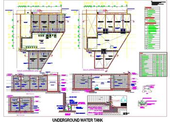 Under Ground Water Tank Detail Design