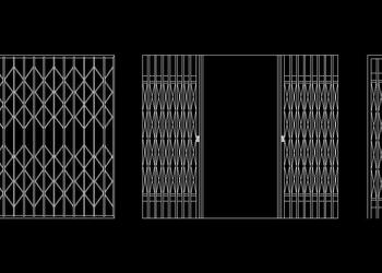 Aluminium Frame Door Window Detail - Autocad DWG | Plan n Design