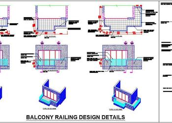 Balcony Railing Detail Drawing