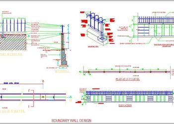 M.S. Bar Boundary Wall Detail Design