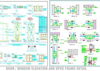 UPVC Door Window Detail Drawing
