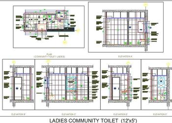Ladies Community Toilet Design Detail (12'x5')