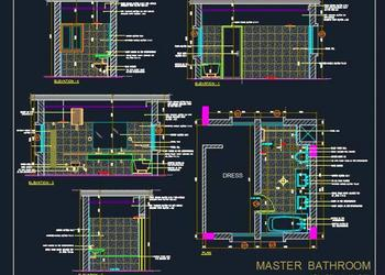 Master Bathroom Toilet Design Detail (6'-6x14')