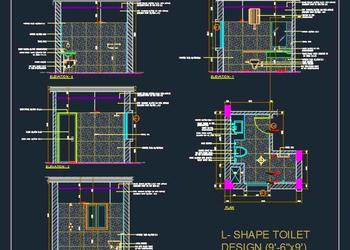 Toilet Design Detail (9'-6x9')