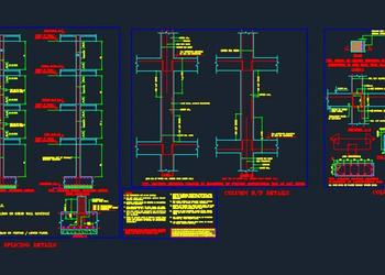 Structure detail of double storey house - Autocad DWG   Plan