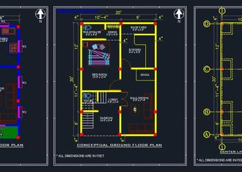 House Space Planning 20'x30' dwg file
