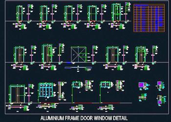 Aluminium Frame Door Window Detail