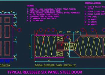 Typical Recessed Six Panel Steel door