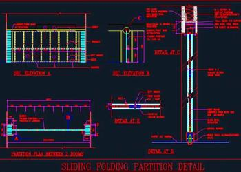 Sliding Folding Partition Detail