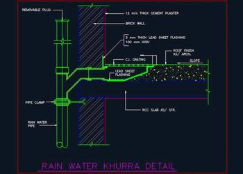 Hotel Guest Toilet Water Supply and Drainage Detail