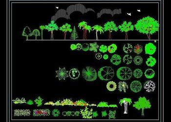 Free Landscape Autocad Block Download (www.planndesign.com)- Plants, Shrubs, Hedges, Creepers, Trees